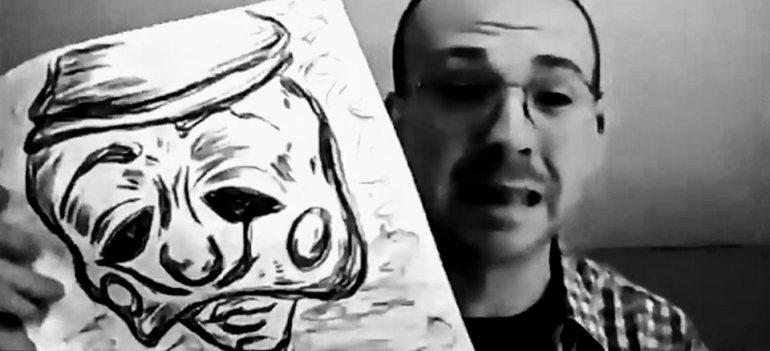 Mr Ruffle drawing